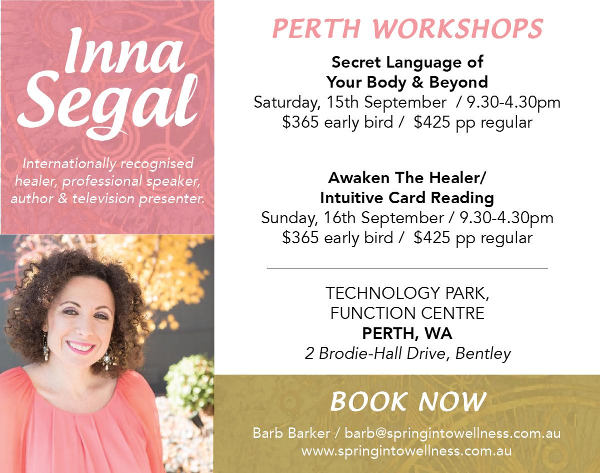 Inna Segal Perth Workshop